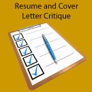 Professional Level – Customized Resume and Cover letter Critique and Templates