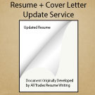 Professional Level – Resume and Cover Letter Update Service